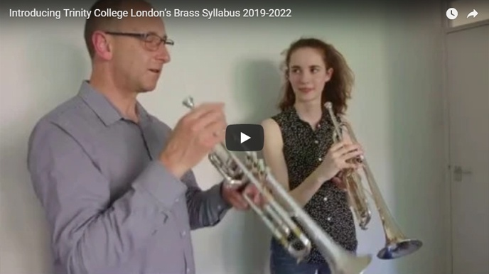teacher and learner playing trumpet video