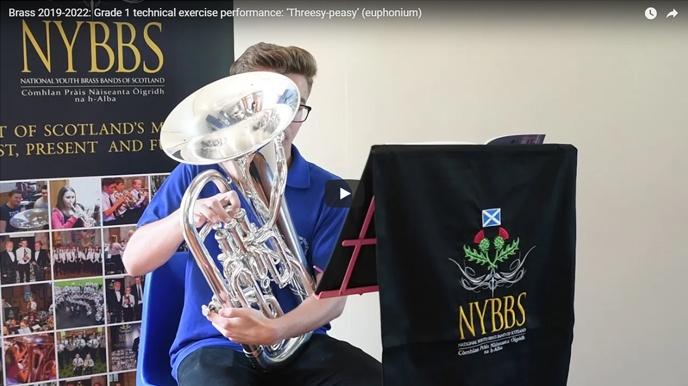 Grade 1 technical exercise performance: 'Threesy-peasy' (euphonium)
