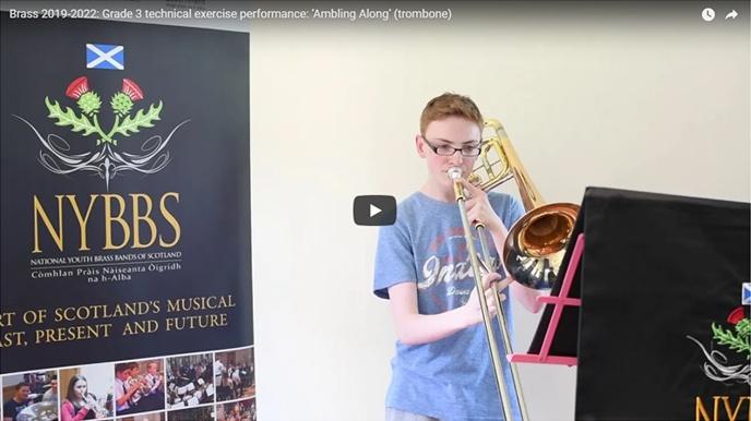 Grade 3 technical exercise performance: 'Ambling Along' (trombone)