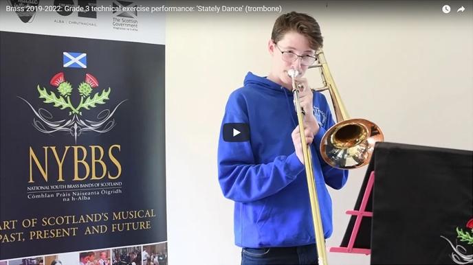 Grade 3 technical exercise performance: 'Stately Dance' (trombone)