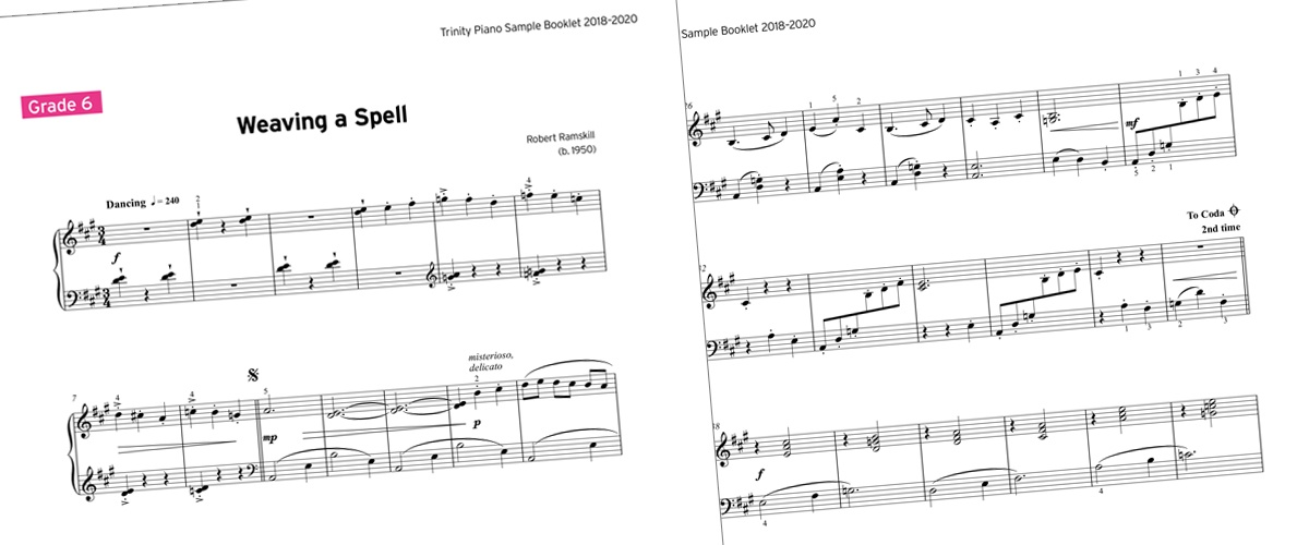 Free piano sample booklet