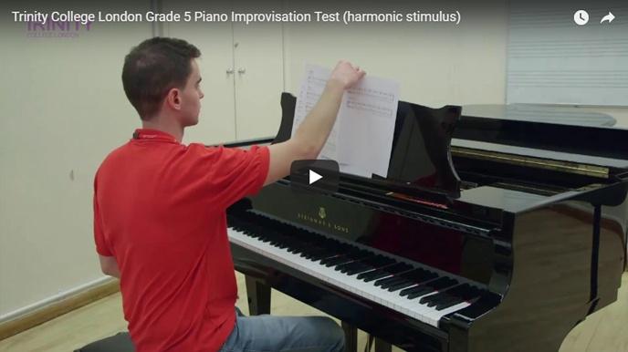Example piano improvisation test (harmonic stimulus): Grade 5