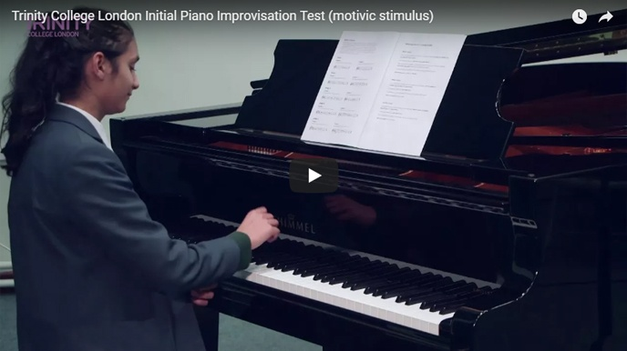 Example piano improvisation test (motivic stimulus): Initial