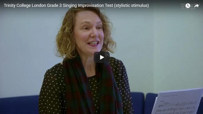 Example singing improvisation test (stylistic stimulus): Grade 3