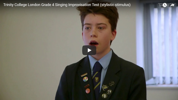 Example singing improvisation test (stylistic stimulus): Grade 4