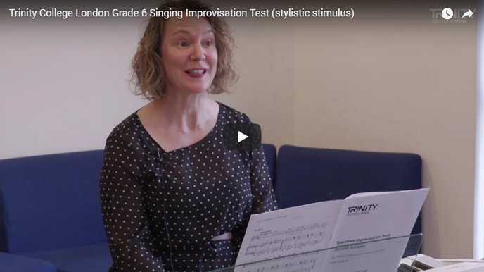 Example singing improvisation test (stylistic stimulus): Grade 6