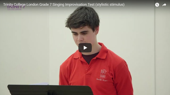 Example singing improvisation test (stylistic stimulus): Grade 7