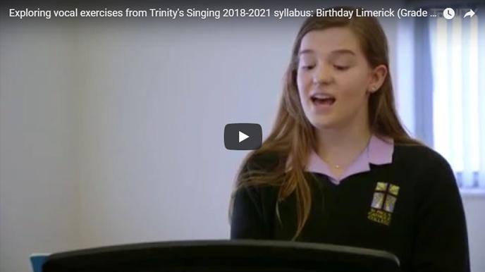 Teaching vocal exercises: 'Birthday Limerick', Grade 3