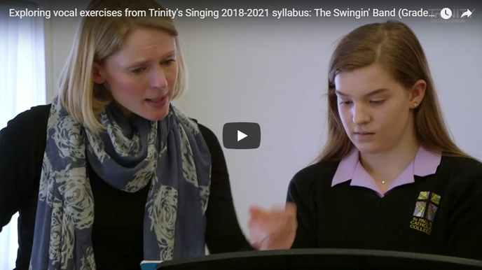 Teaching vocal exercises: 'The Swingin' Band', Grade 3