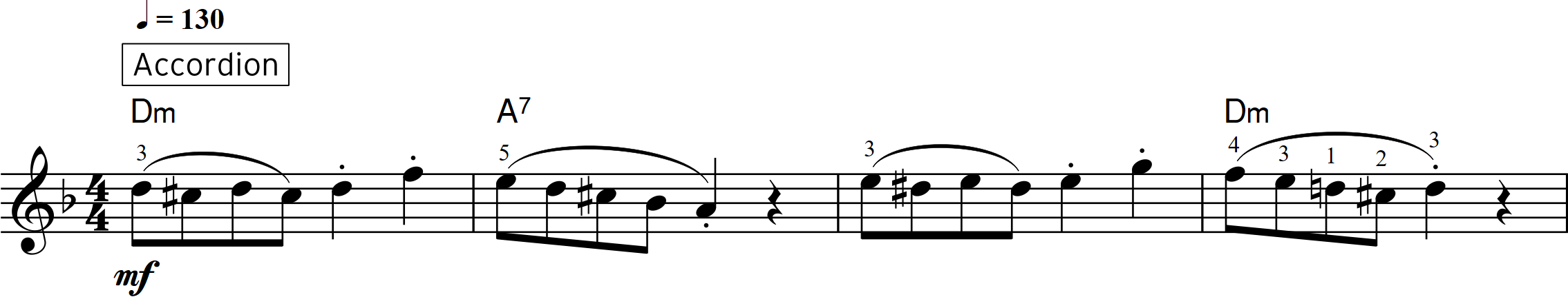 Fig 5 Whirling Dervishes first 4 bars