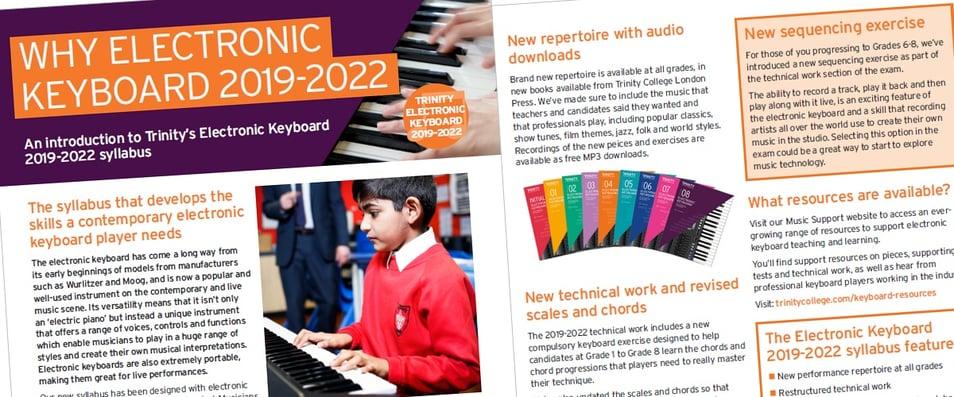 Why Trinity Electronic Keyboard 2019-2022?
