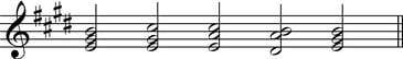 Grade 4 - Chord sequence in E major RH