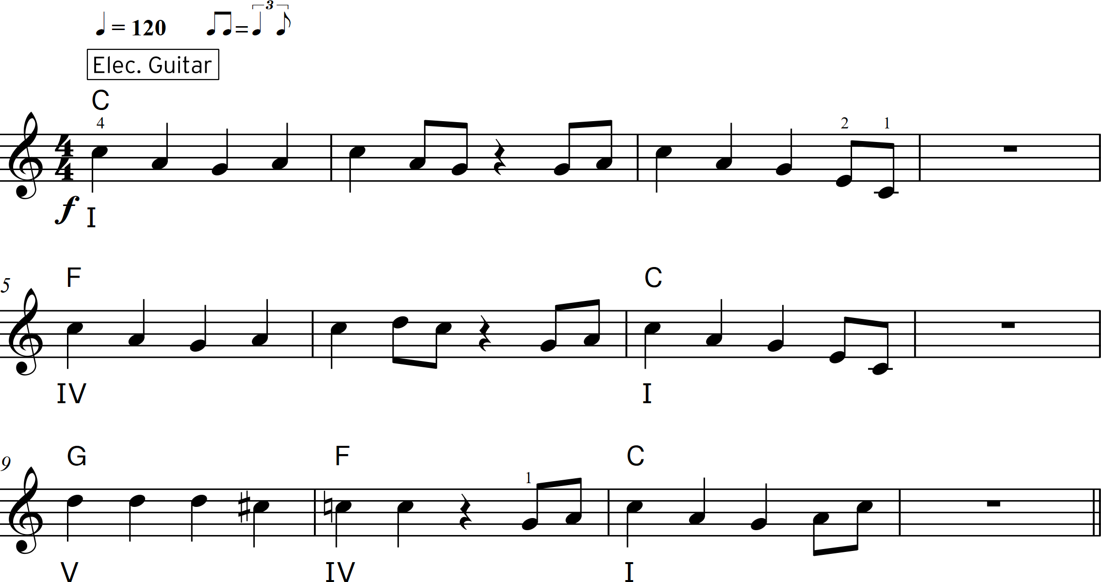 Rock to the Roll bars 1-12 (with roman numerals) - Fig_8