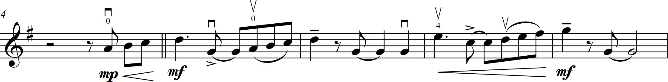 G2 Petzold (Cornick) - Menuet - 4-8 vln