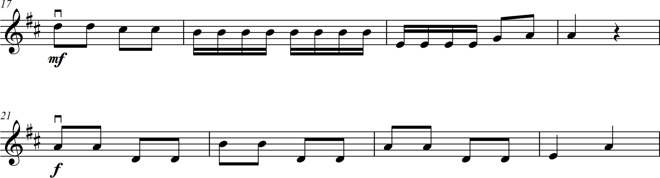 17. Busy bee - Violin