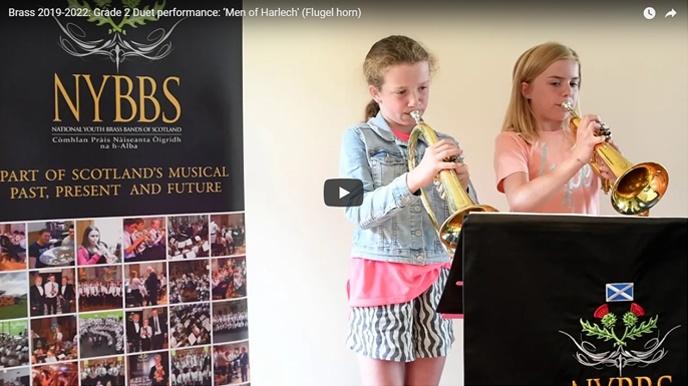 NYBBS - Grade 2 duet - Men of Harlech - Flugel horn