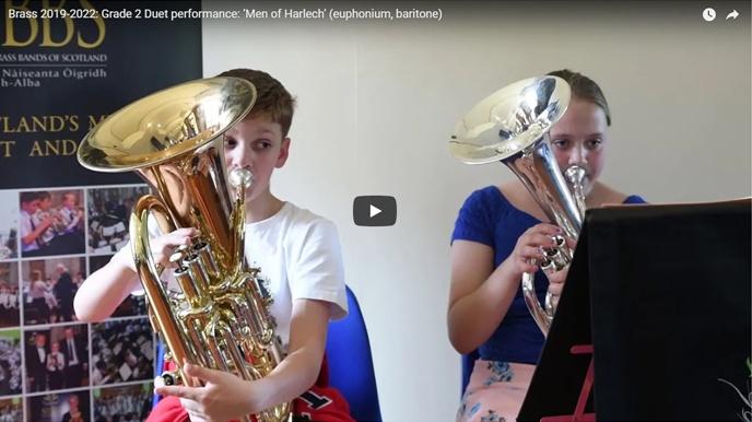 NYBBS - Grade 2 duet - Men of Harlech - euphonium