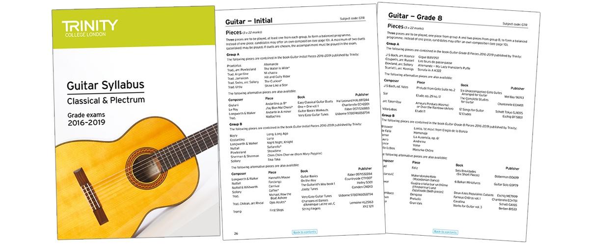 Trinity guitar syllabus 2-1
