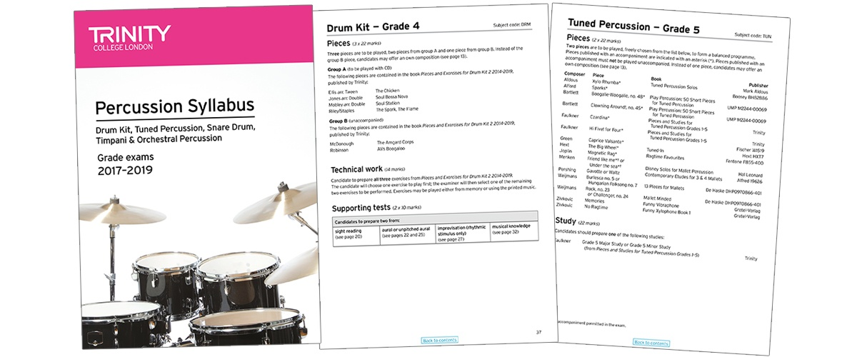 Trinity percussion syllabus 2