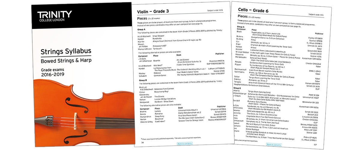 Trinity strings syllabus 2