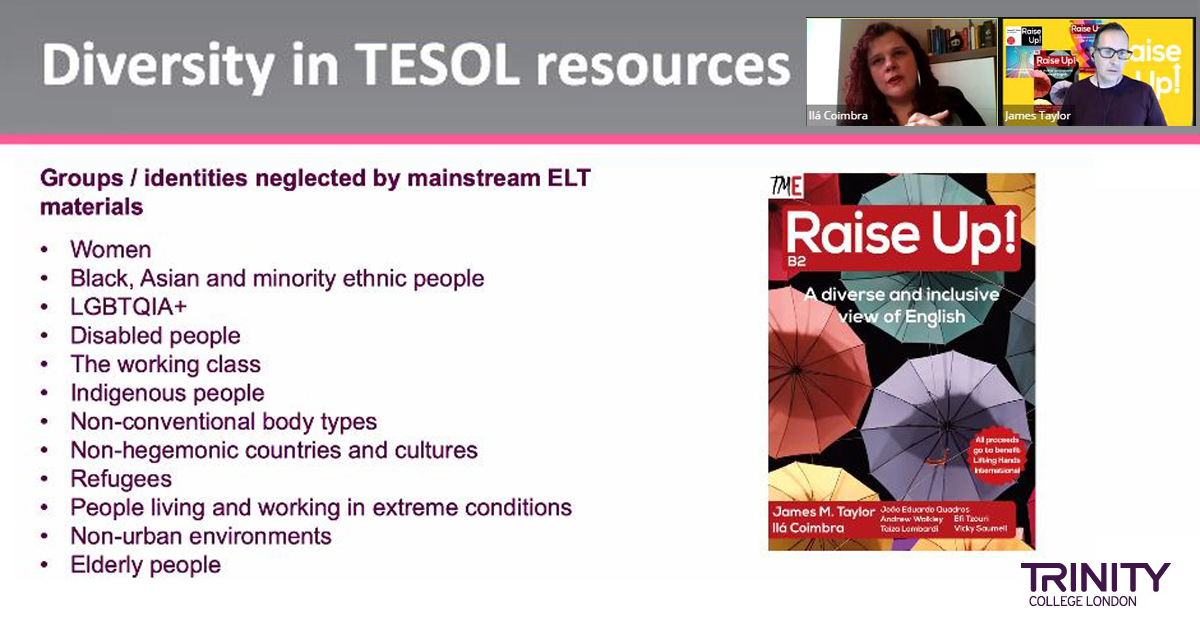 Screenshot of webinar with PPT and presenters